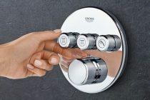 Grohe Grohtherm SmartControl falsík mögötti, termosztátos zuhanyrendszer szett (kerek)