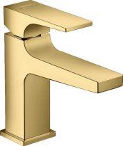 Hansgrohe 32500990 Metropol Egykaros mosdócsaptelep 100, push-open lefolyó-garnitúrával polírozott arany hatású