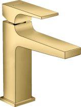 Hansgrohe 32507990 Metropol Egykaros mosdócsaptelep 110, push-open lefolyó-garnitúrával, polírozott arany hatású