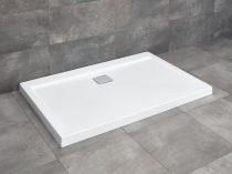 Radaway Argos D aszimmetrikus szögletes zuhanytálca lapos + szifon