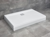 Radaway Argos D aszimmetrikus szögletes zuhanytálca lábbal + szifon
