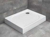 Radaway Delos D aszimmetrikus szögletes zuhanytálca lábbal + szifon
