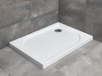 Radaway Delos D aszimmetrikus szögletes zuhanytálca lapos + szifon