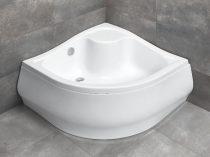 Radaway Korfu A íves magasított zuhanytálca + szifon