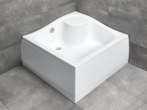 Radaway Korfu C szögletes magasított zuhanytálca + szifon
