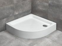 Radaway Laros A íves zuhanytálca + szifon