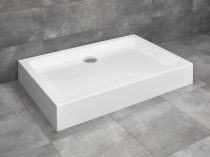 Radaway Laros D aszimmetrikus szögletes zuhanytálca + szifon