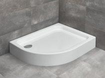 Radaway Laros E aszimmetrikus íves zuhanytálca + szifon