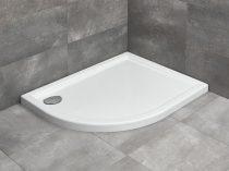Radaway Tasos E aszimmetrikus íves zuhanytálca + szifon