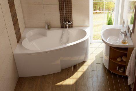 Ravak Asymmetric akril aszimmetrikus fürdőkád