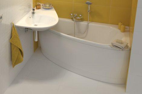 Ravak Avocado akril aszimmetrikus fürdőkád