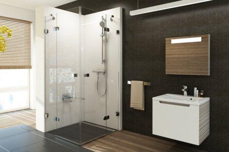 Ravak Brilliant BSRV4 négyrészes zuhanykabin sarokbelépéssel