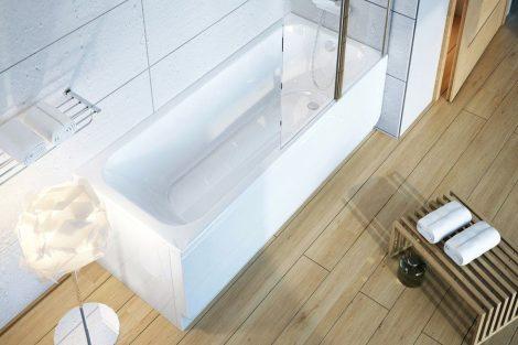 Ravak Chrome akril egyenes fürdőkád