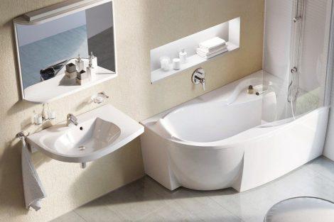 Ravak Rosa 95 akril aszimmetrikus fürdőkád
