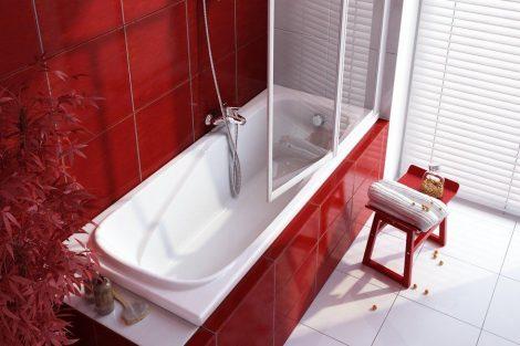 Ravak Vanda II akril egyenes fürdőkád