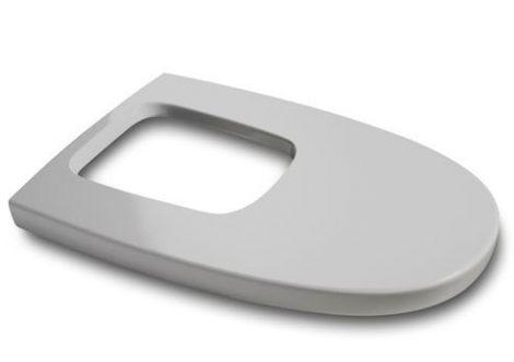 Roca Khroma Silver Grey párnázott lecsapódásgátlós bidet fedél 806652F1T