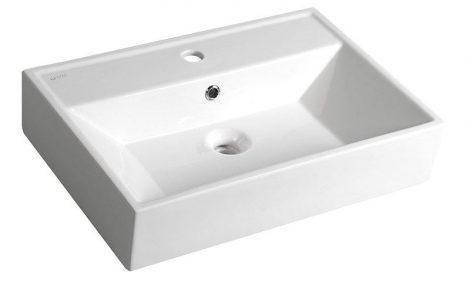Aqualine Systema Mosdó, pultra ültethető vagy falra szerelhető 50x42 cm (10SF50051)