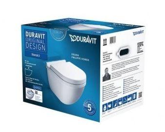 Duravit Starck 3 komplett fali WC ülőkével ( 255209+006379 )