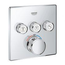 Grohe F-Digital Deluxe termosztát falsík mögötti, 3 fogyasztóra