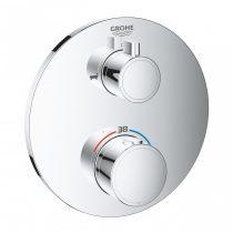 Grohe Grohtherm termosztátos kádkeverő 2 kimenethez elzáró szeleppel