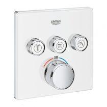Grohe SmartControl  3 fogyasztós termosztát, fedőlap akriküvegből