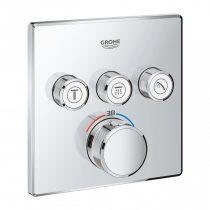 Grohe SmartControl termosztát falsík mögötti telepítésre, 3 fogyasztó