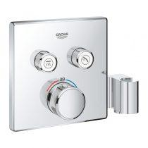 Grohe SmartControl szögletes termosztát falsík mögötti, zuhanytartóval