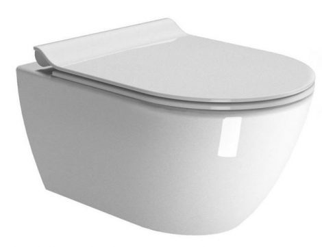 Sapho PURA fali wc 36x55cm, SWIRLFLUSH   (881511) WC ülőke nélkül