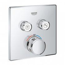 SmartControl szögletes termosztát falsík mögötti telepítésre, 2 fogyasztó