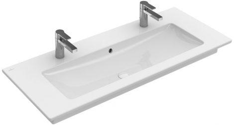 Villeroy & Boch Venticello 4104 CL01 120x50 két csaplyukas beépíthető mosdó